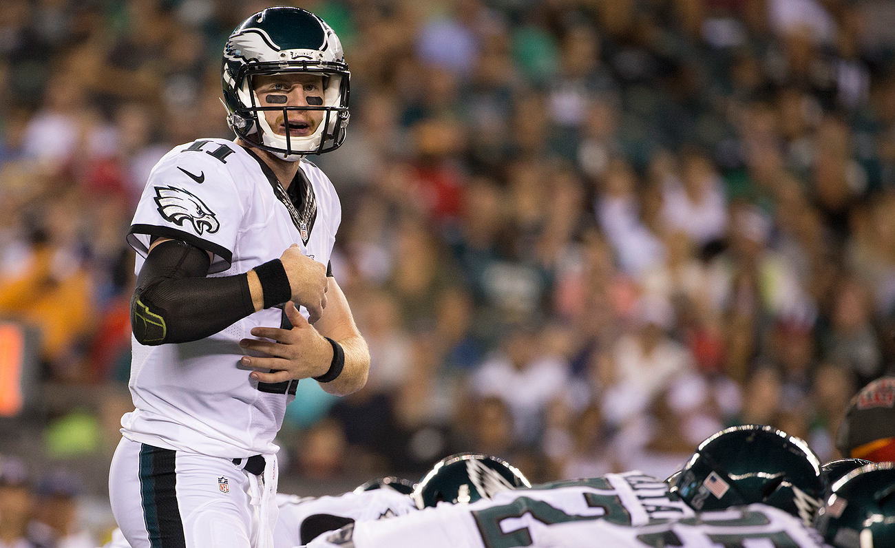 Carson Wentz will be the Eagles starting quarterback Sunday against the Browns.
