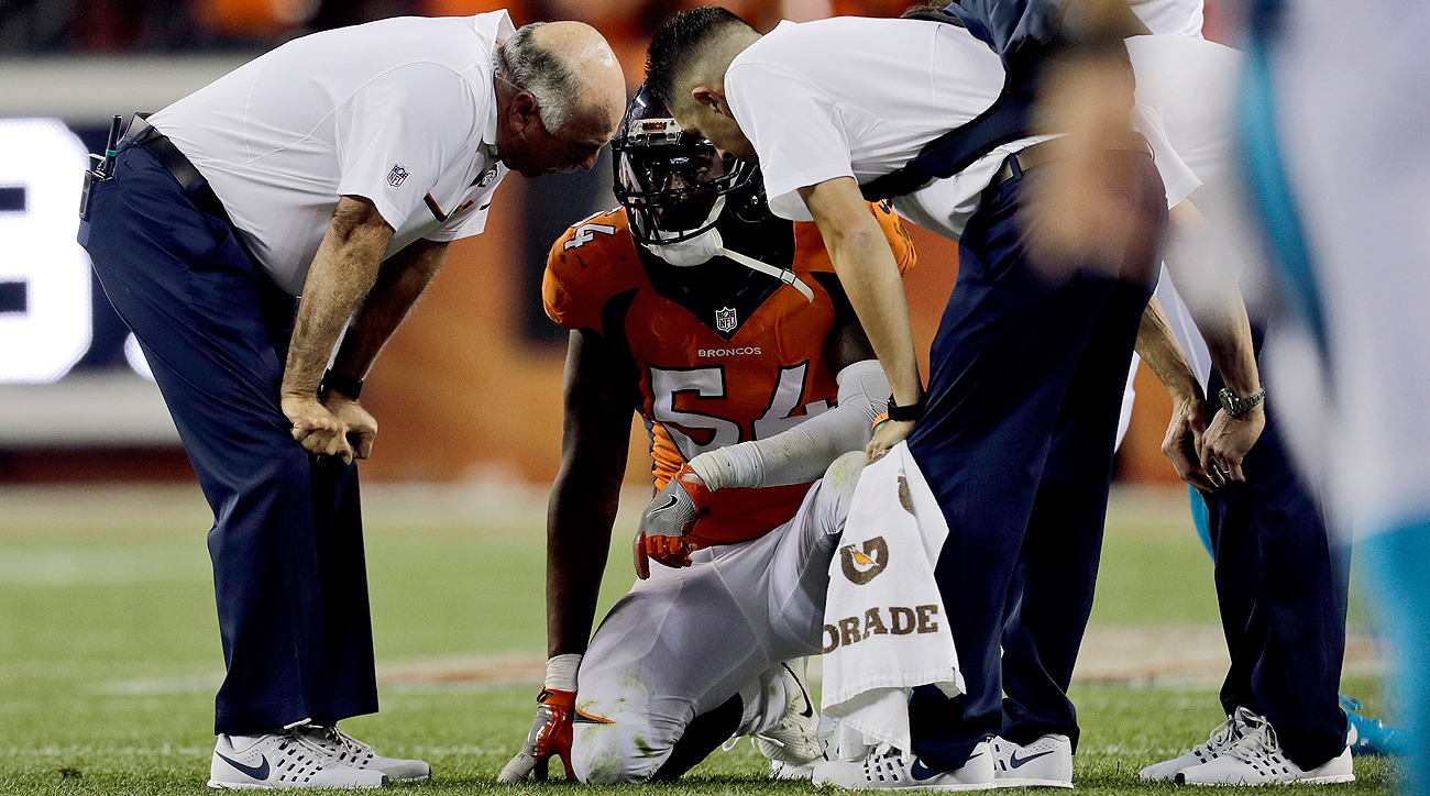 Marshall suffered a blow to the head against the Panthers and was evaluated by medical personnel. He eventually returned to the game.