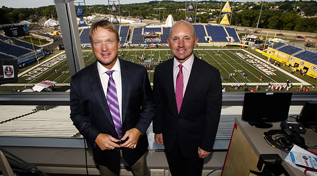 Sean McDonough joins Jon Gruden in the Monday Night Football booth.