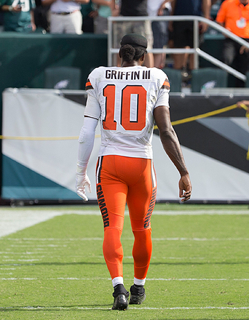 Robert Griffin III's comeback attempt in Cleveland could be over after one game.