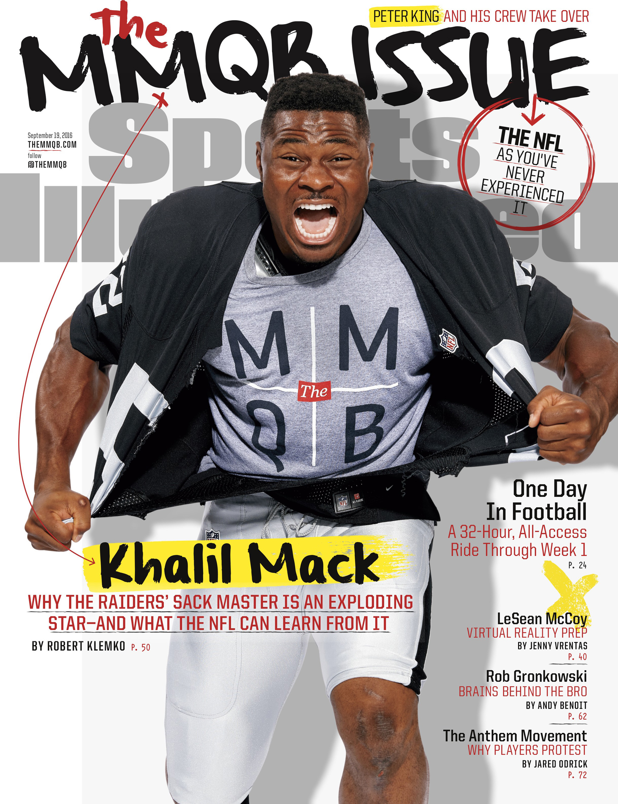 sports illustrated cover the mmqb khalil mack