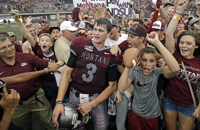 It was madness in Missoula when, in his first career start, Gustafson led Montana to a come-from-behind win over Carson Wentz-led North Dakota State.