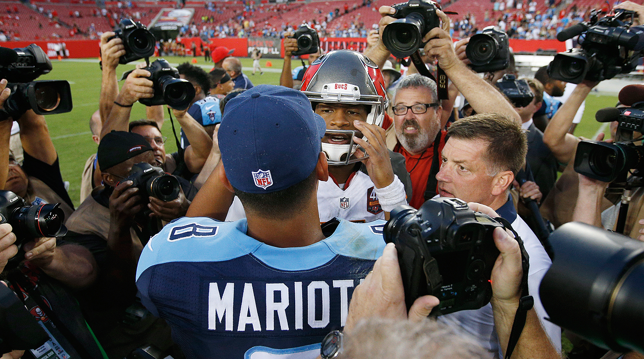 Marcus Mariota and Jameis Winston met Week 1 last season, with the Titans beating the Bucs.