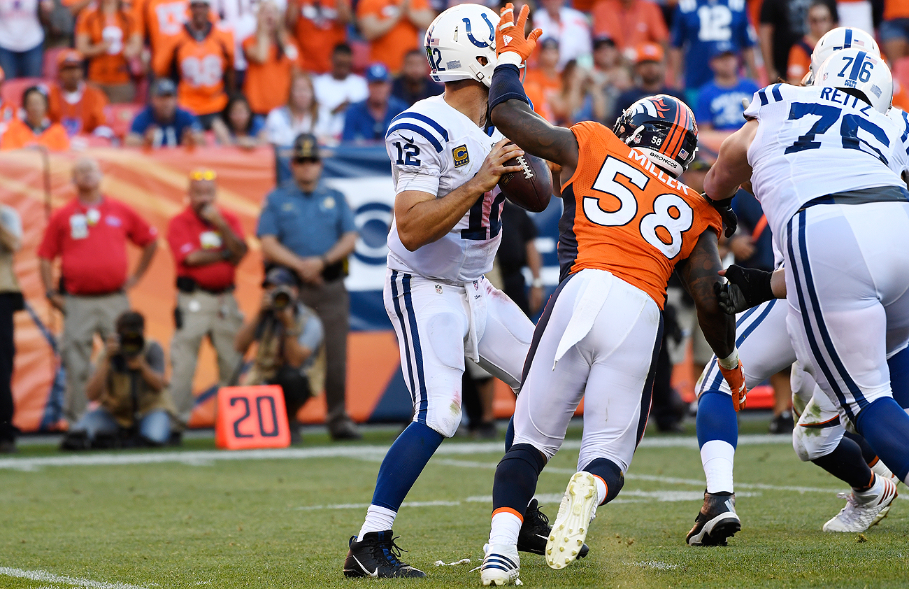 The Broncos are off to a 2-0 start, thanks in part to Von Miller's standout performance against Andrew Luck and the Colts on Sunday.