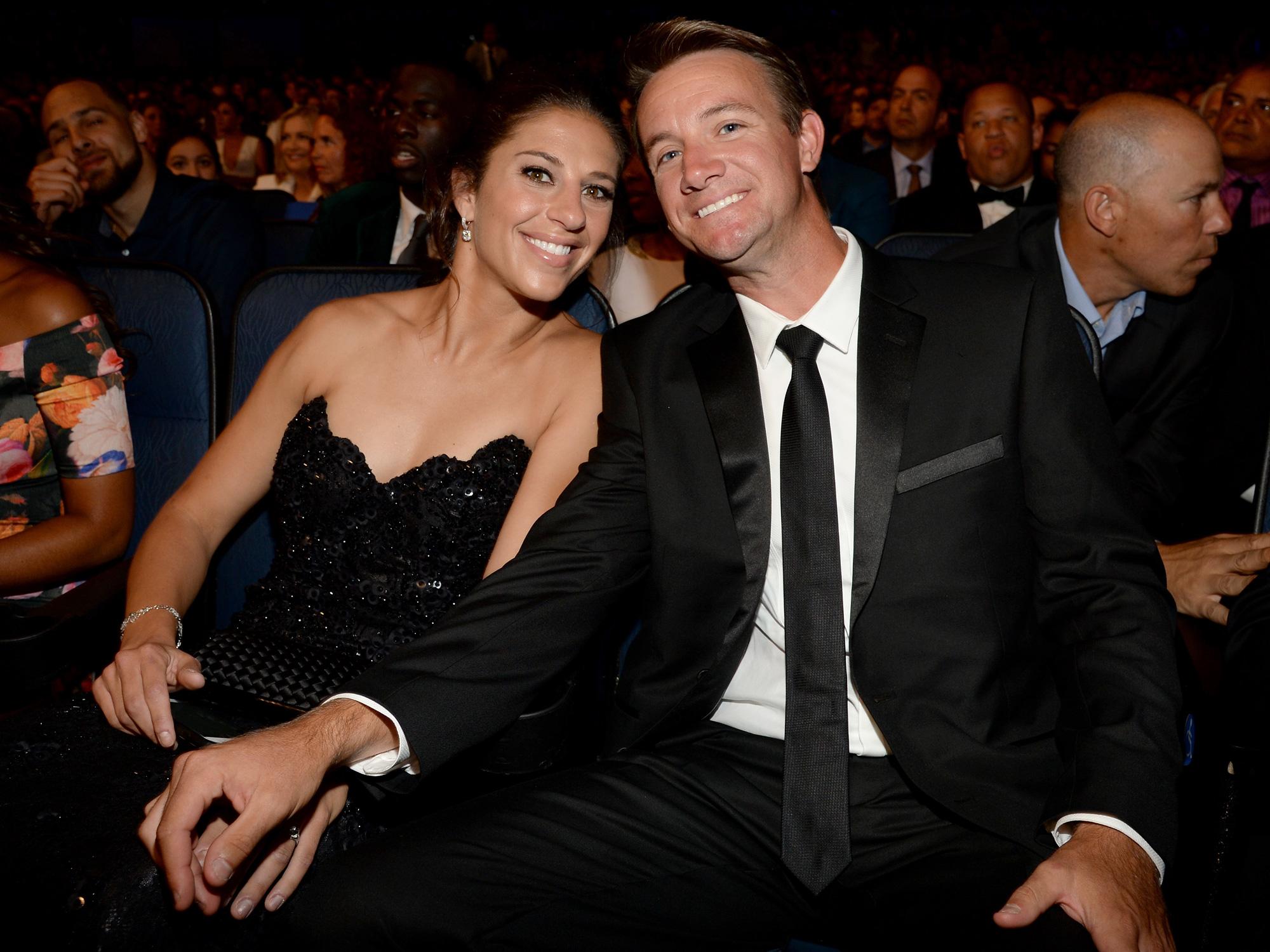 Carli Lloyd with her fiancee Brian Hollins
