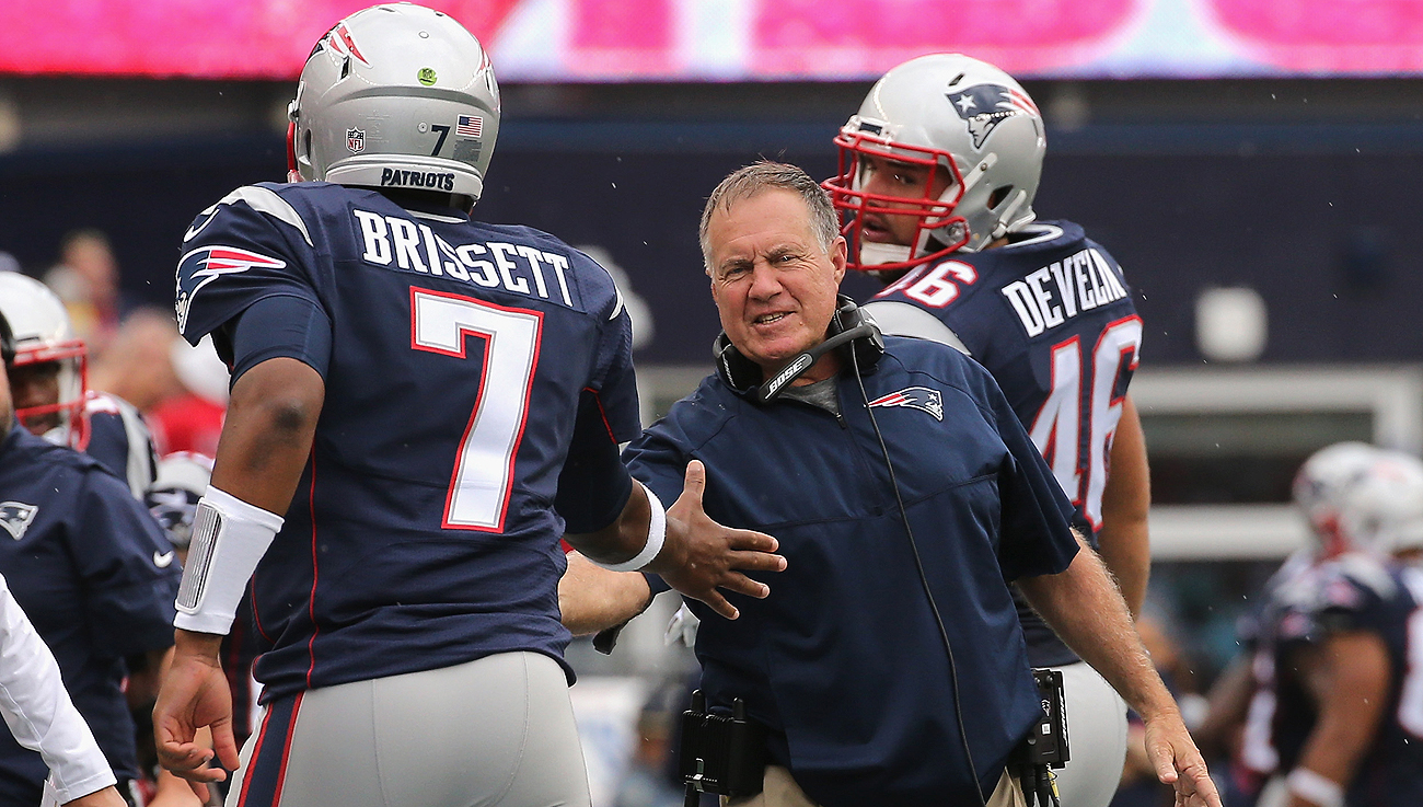 Bill Belichick will start Brissett against the Texans on Thursday after a short week.