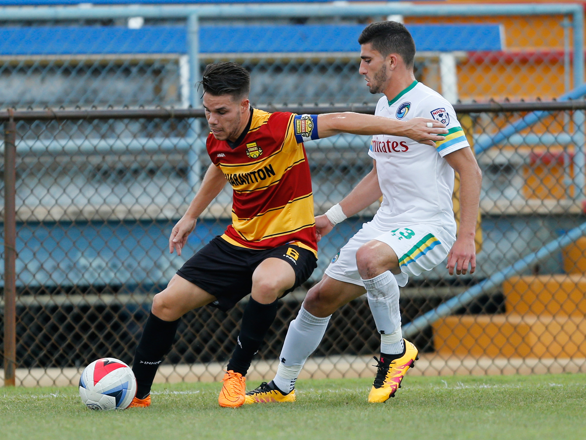 The Fort Lauderdale Strikers and New York Cosmos square off in an NASL match