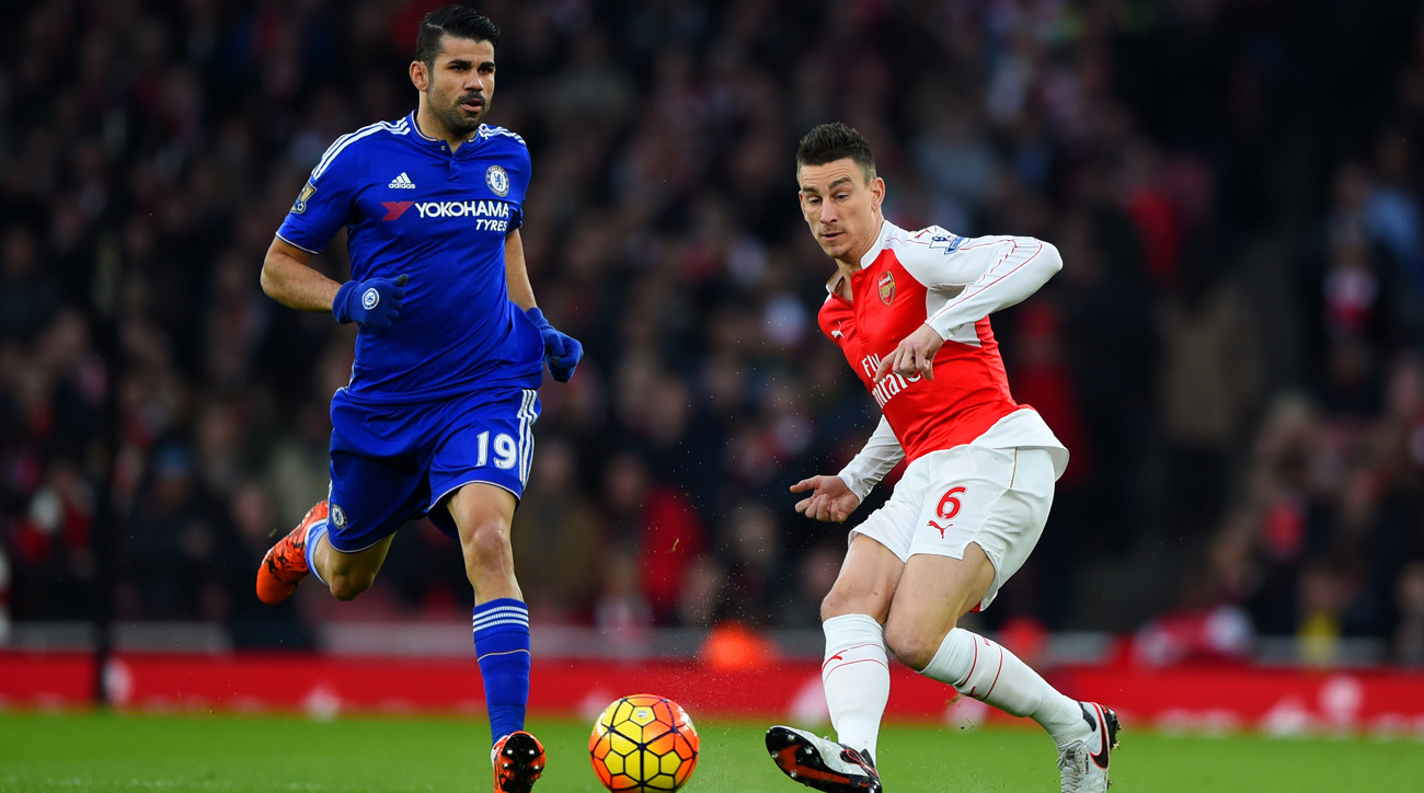 Diego Costa and Chelsea go up against Laurent Koscielny and Arsenal in a London derby