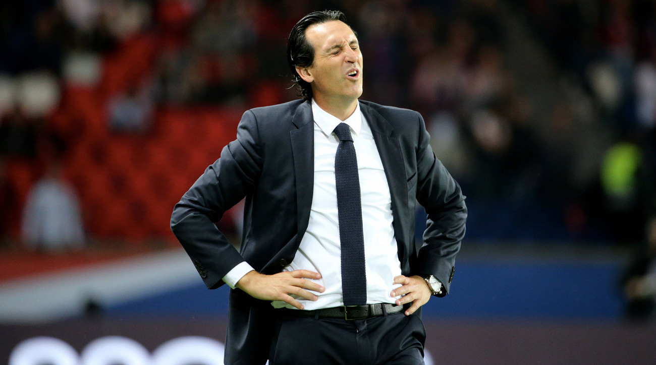PSG manager Unai Emery is feeling the heat after another loss in Ligue 1