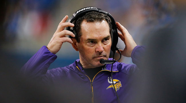 Minnesota Vikings coach Mike Zimmer.