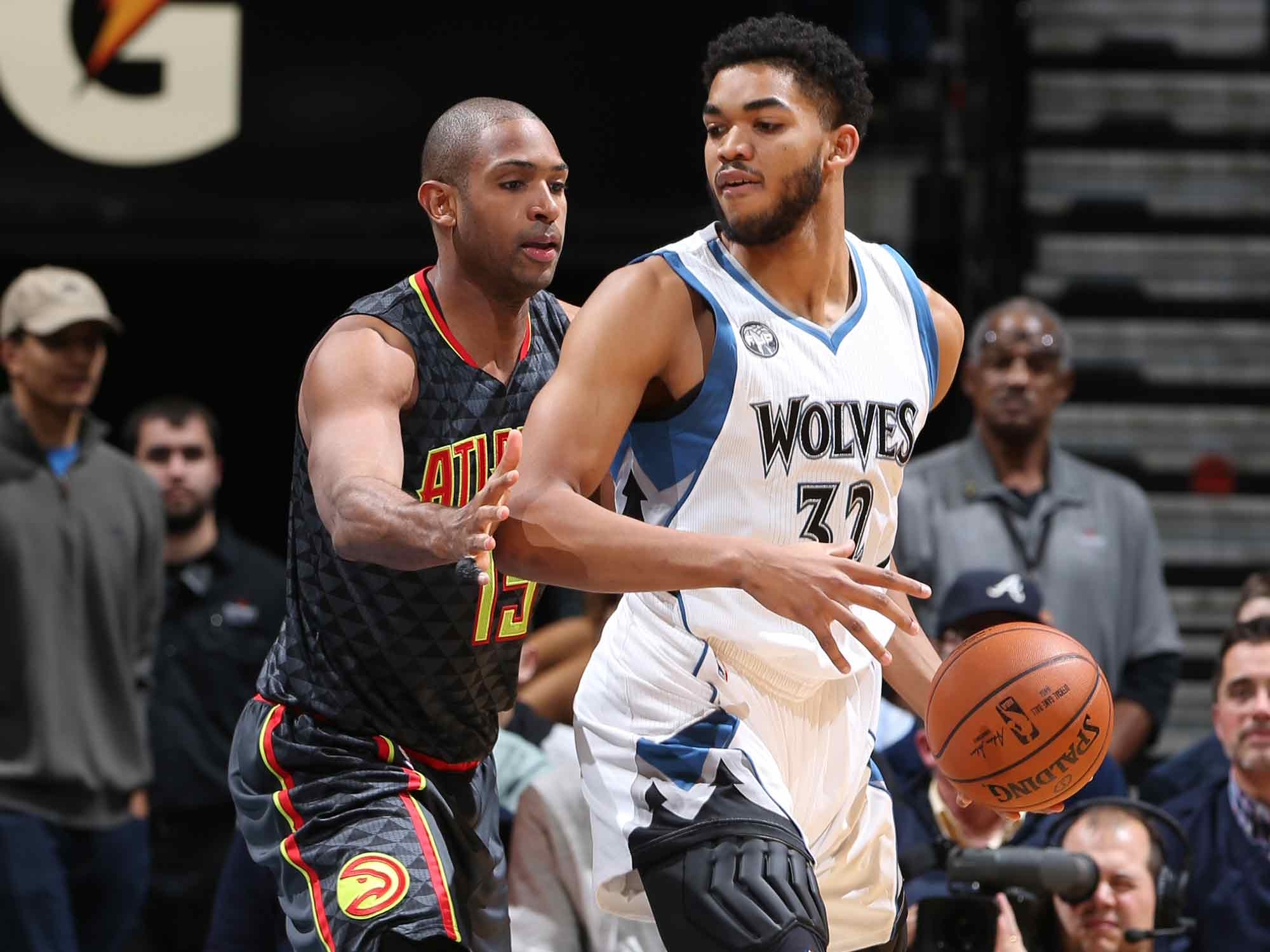 Al Horford and Karl-Anthony Towns