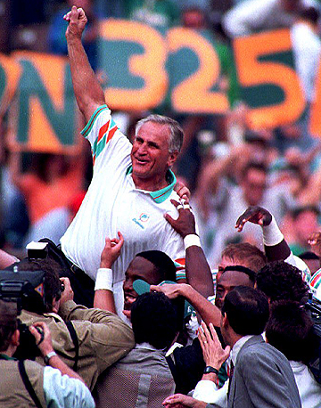 No coach has more regular season wins (328) than Don Shula.