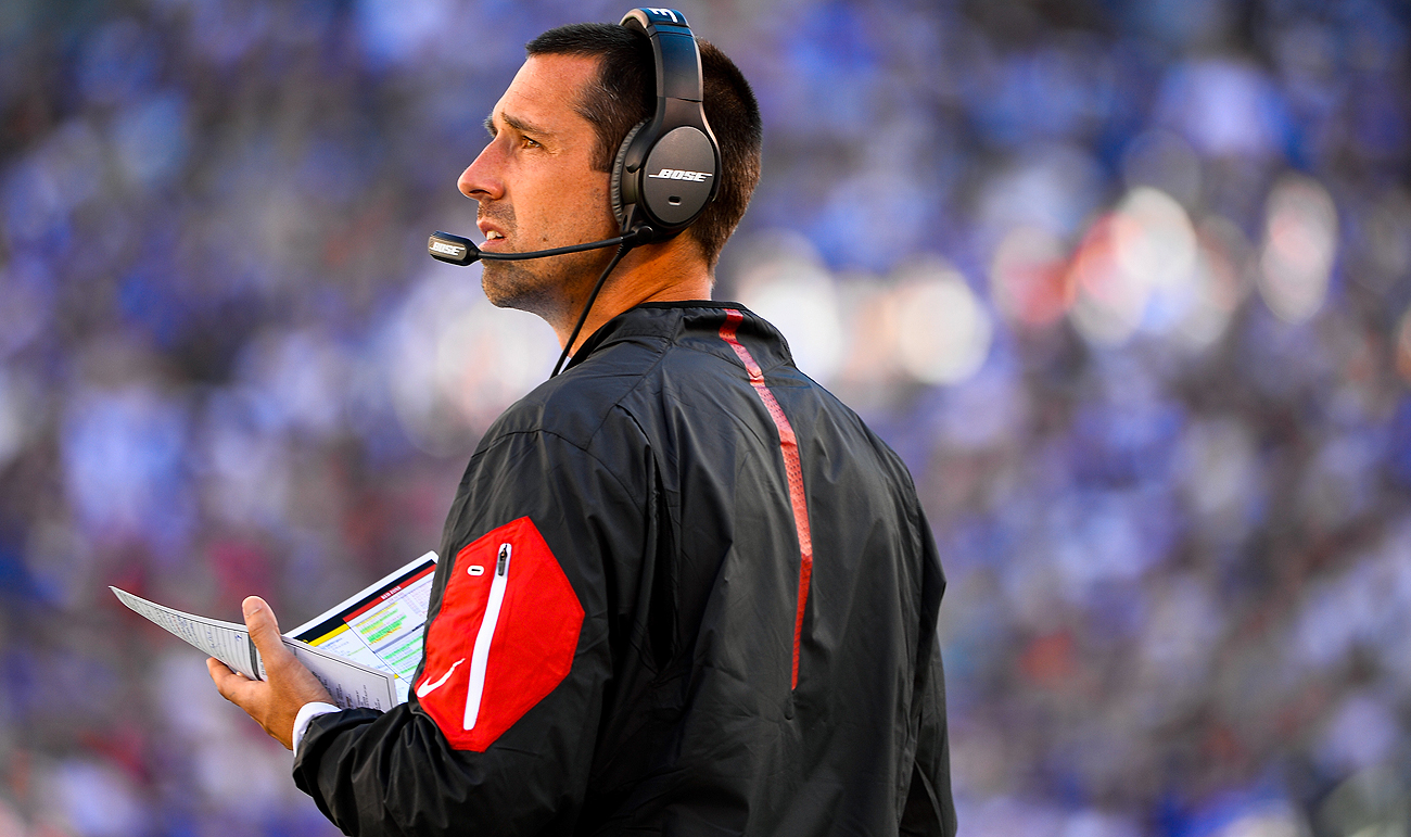 Kyle Shanahan has nine years of experience as an offensive coordinator and might eye the college ranks to break through as a head coach.