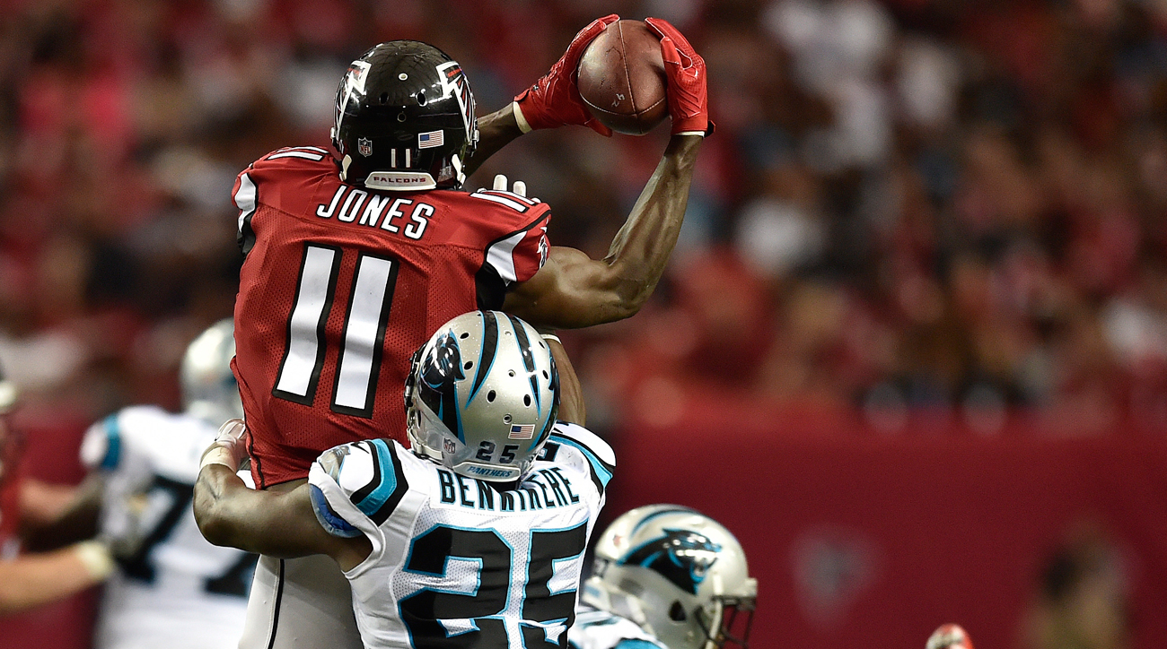 Julio Jones' 12-catch, 300-yard game against the Panthers on Sunday was 2 catches and 112 yards more than he had the first three weeks combined.