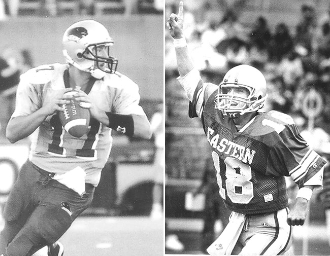 Tony Romo (left), Class of 2003; Sean Payton, Class of 1987
