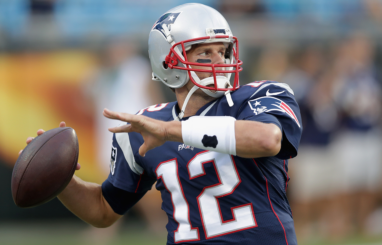 Expect Tom Brady to have on his game face Sunday in his return from a four-game suspension.