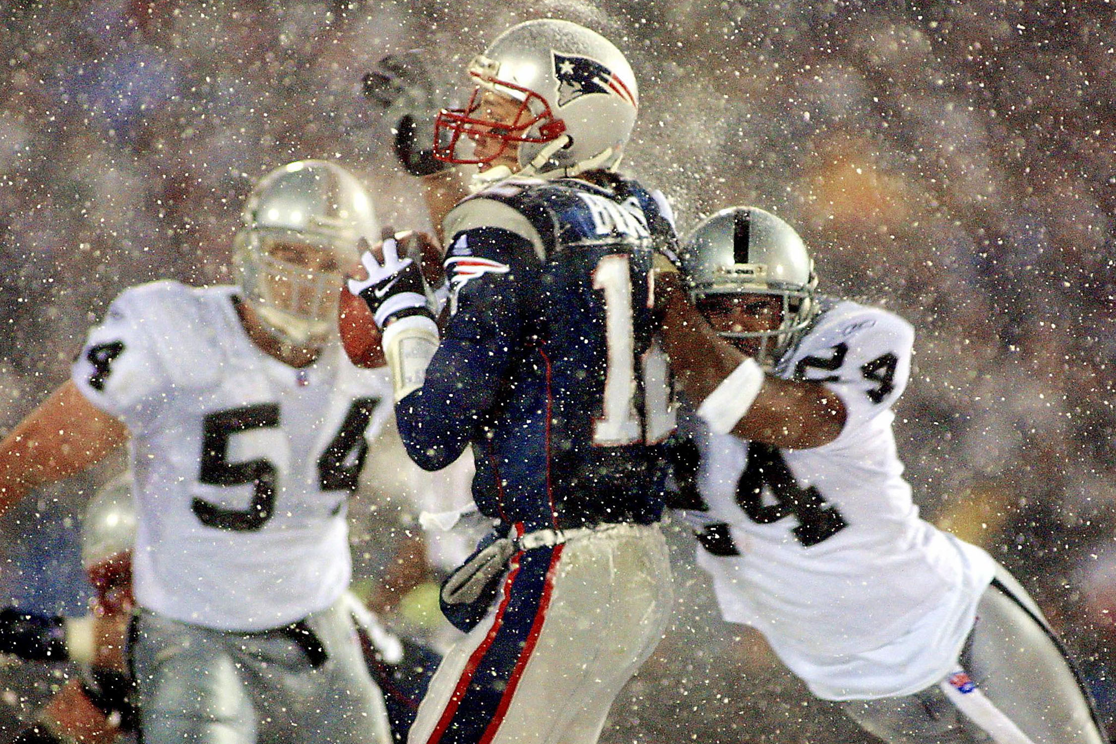 "The Raiders haven't been competitive for most of Brady's career, but their fans are still irate about the ""tuck rule"" decision that allowed New England to beat Oakland in the playoffs in January 2002."