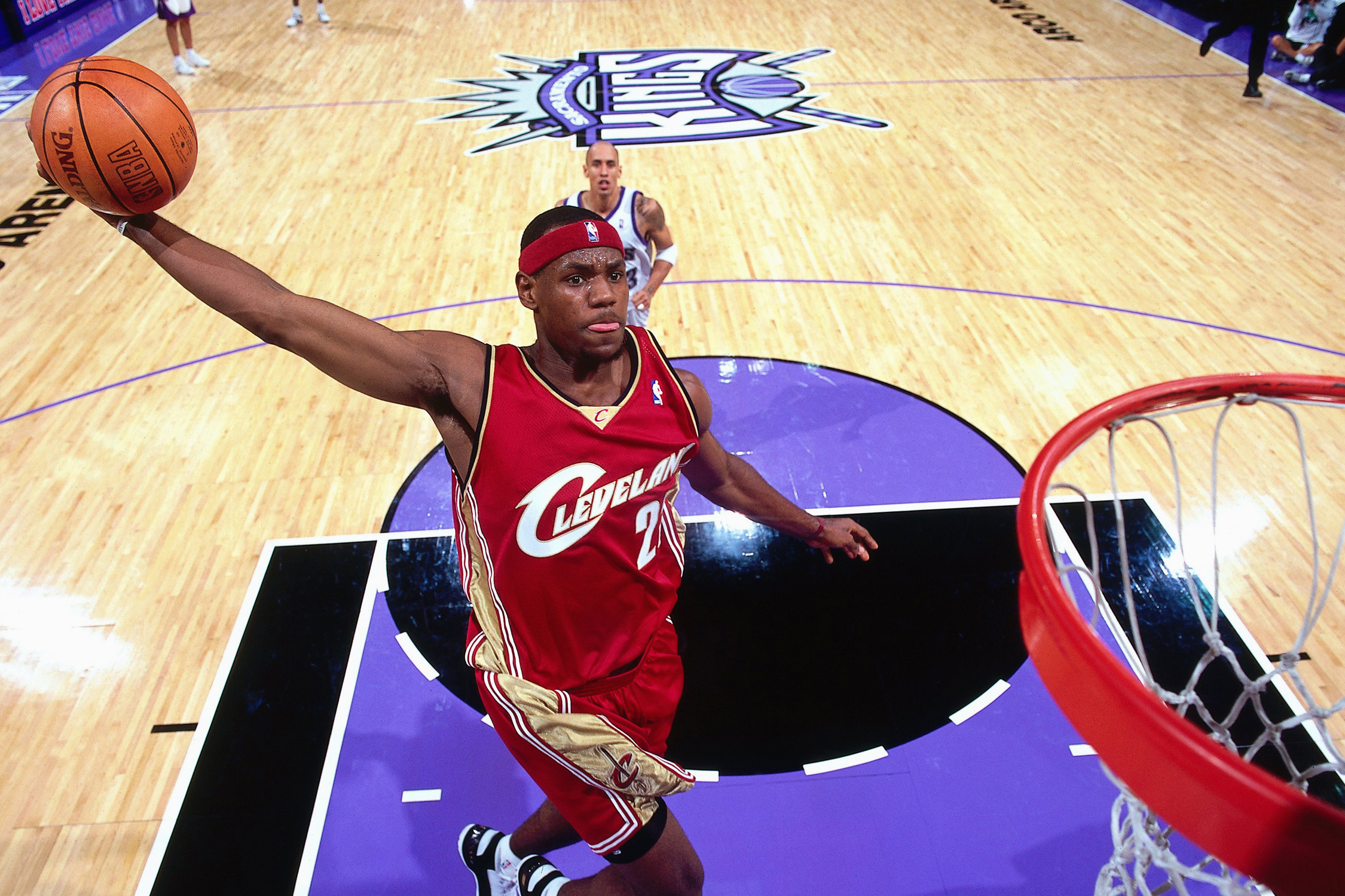 "LeBron's first game was one of the most anticipated rookie debuts in NBA history. The proclaimed ""Chosen One"" recorded a monster stat line of 25 points, nine assists, six rebounds and four steals."