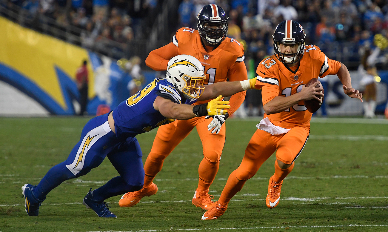 Joey Bosa was a consistent nuisance to Trevor Sieman in the Chargers' win over the Broncos.