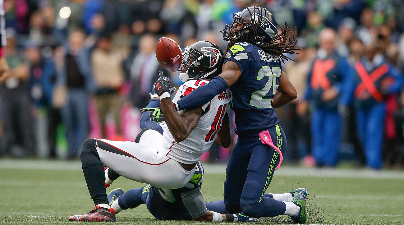 Richard Sherman and the Seahawks got the better of Julio Jones and the Falcons on Sunday.