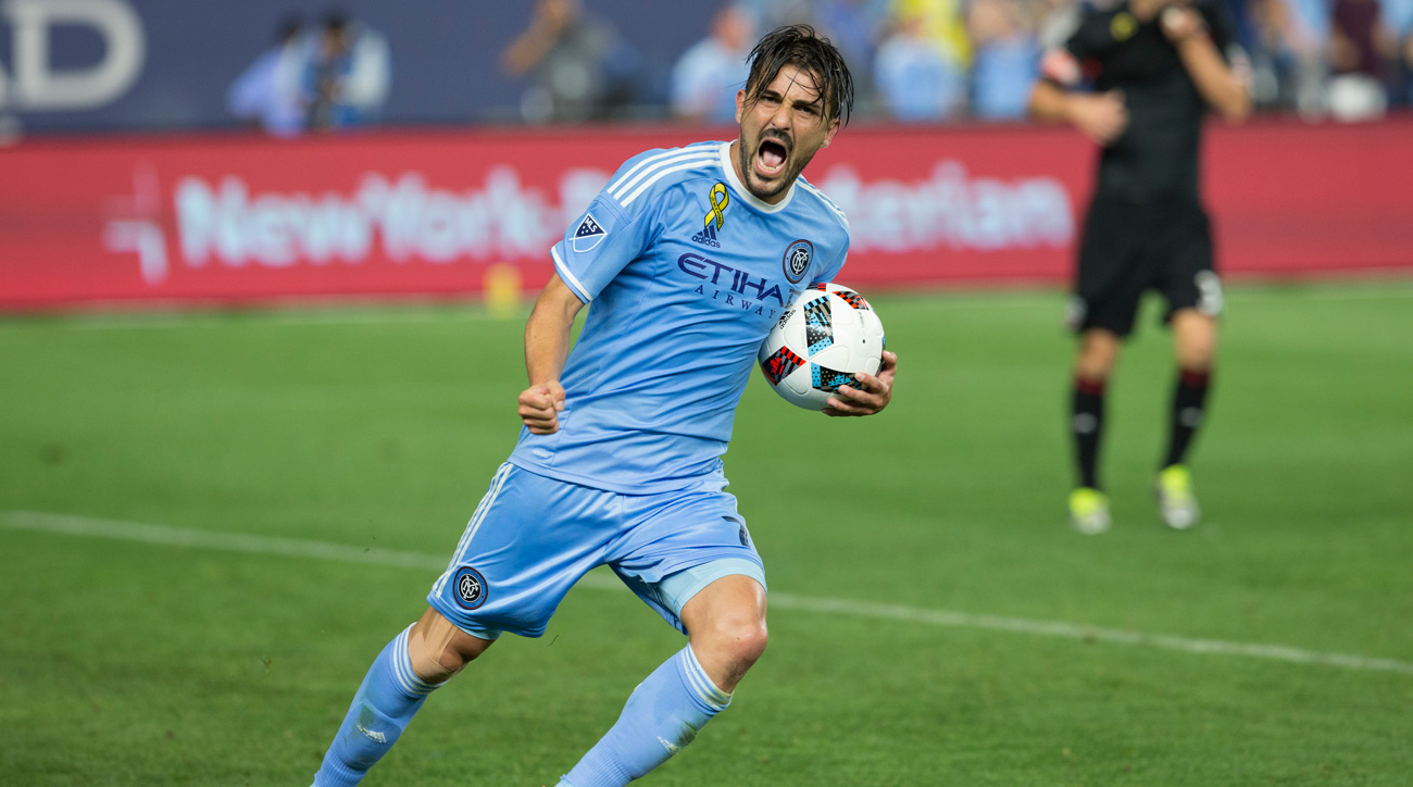 David Villa NYCFC star extends stay through 2018 season