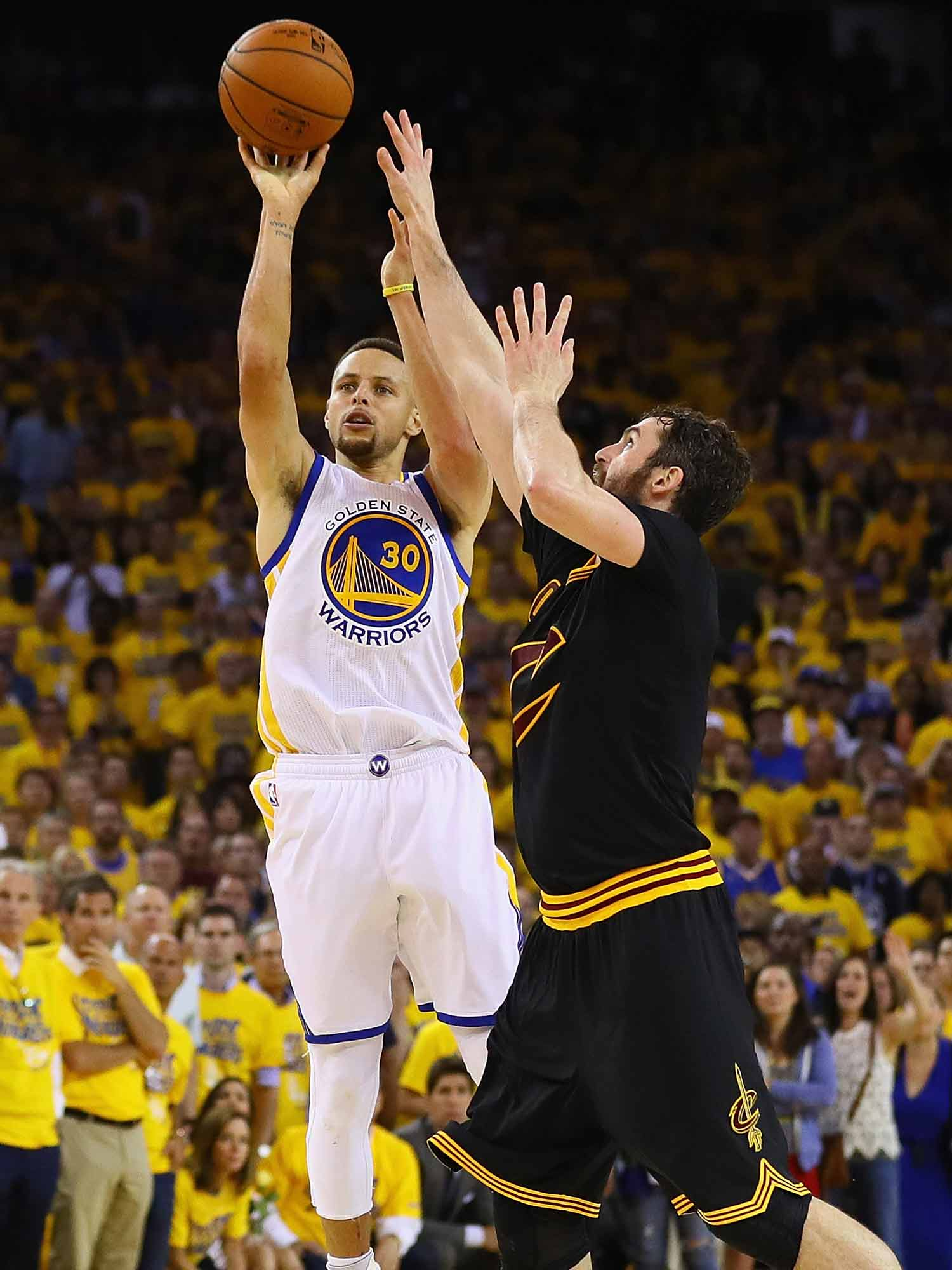 Stephen Curry and Kevin Love