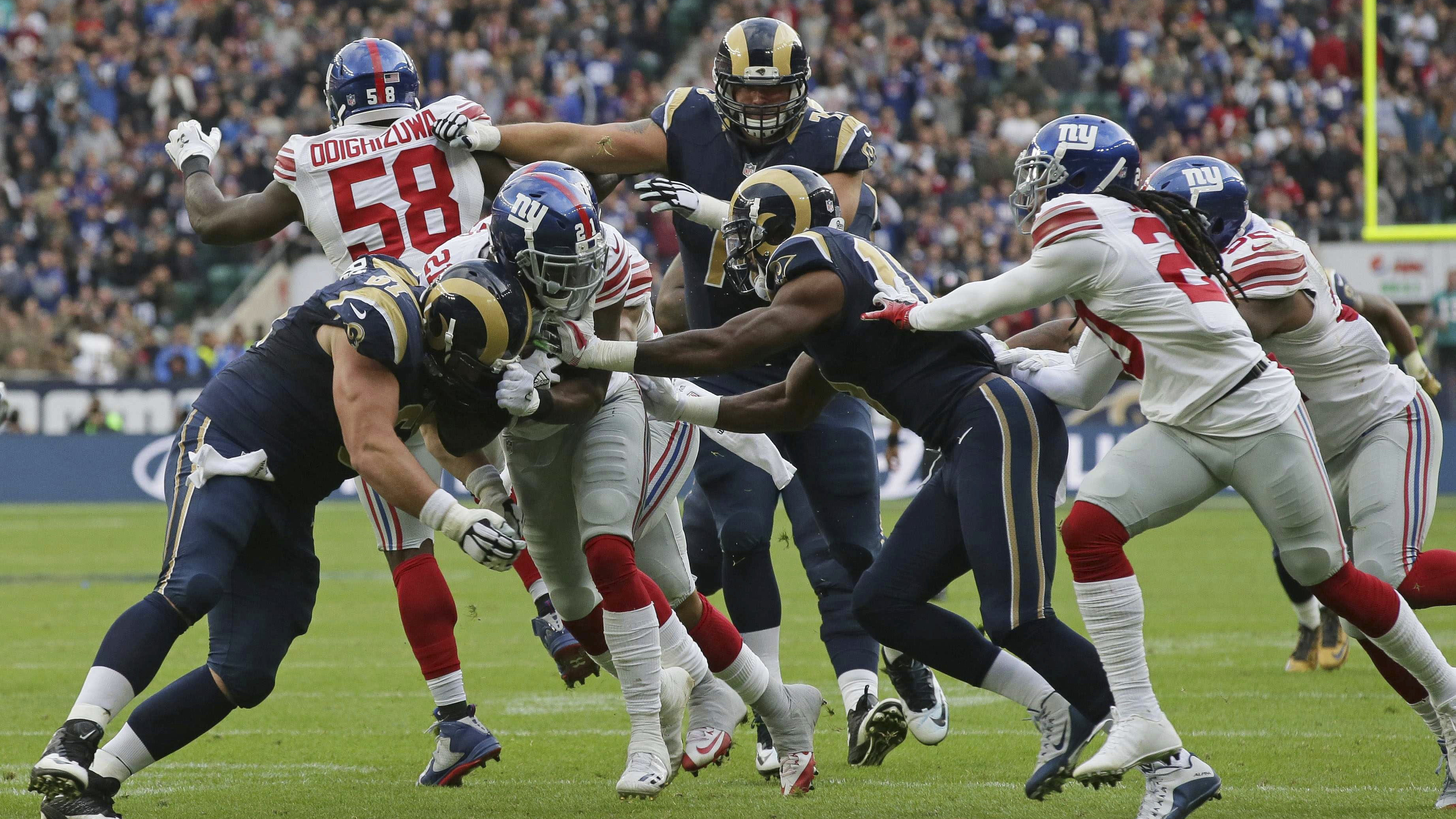 Giants Rams Landon Collins interception return VIDEO