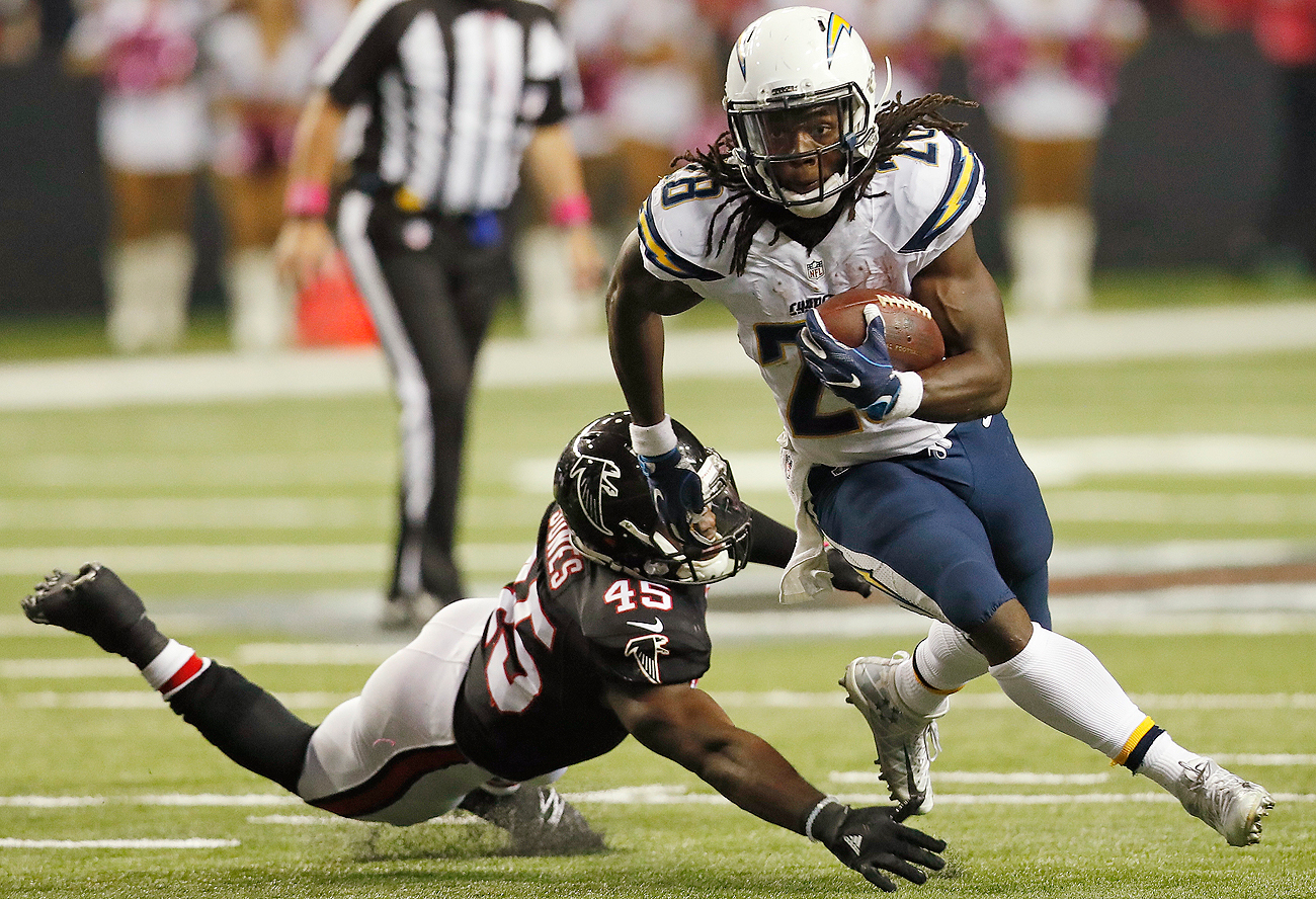 After never finding the end zone as a rookie, Melvin Gordon now leads the NFL with 10 touchdowns through seven weeks.