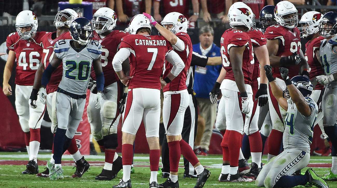 Chandler Catanzaro, on his 25-yard missed field goal which would have won the game: 'I know I make that kick 999,999 out of a million.'