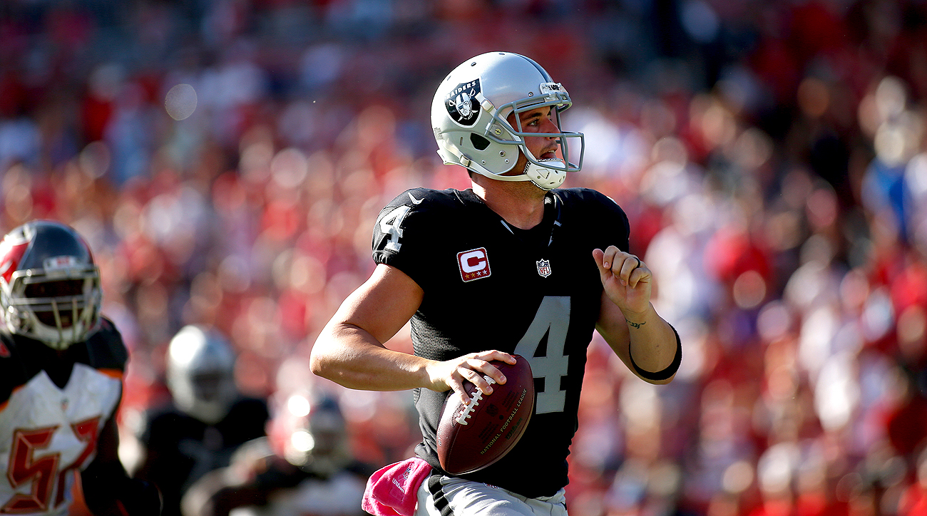 Derek Carr's 513-yard day shattered a 52-year-old Raider record previously held by Cotton Davidson (427 yards, 1964).