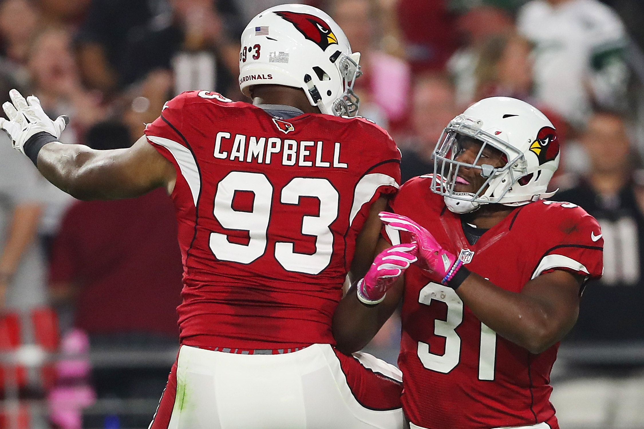 Campbell is a reliable staple of the Cardinals' defense, and he's been consistent again this year outside of his glamour stats: two sacks, three passes defended, a safety forced and an interception.