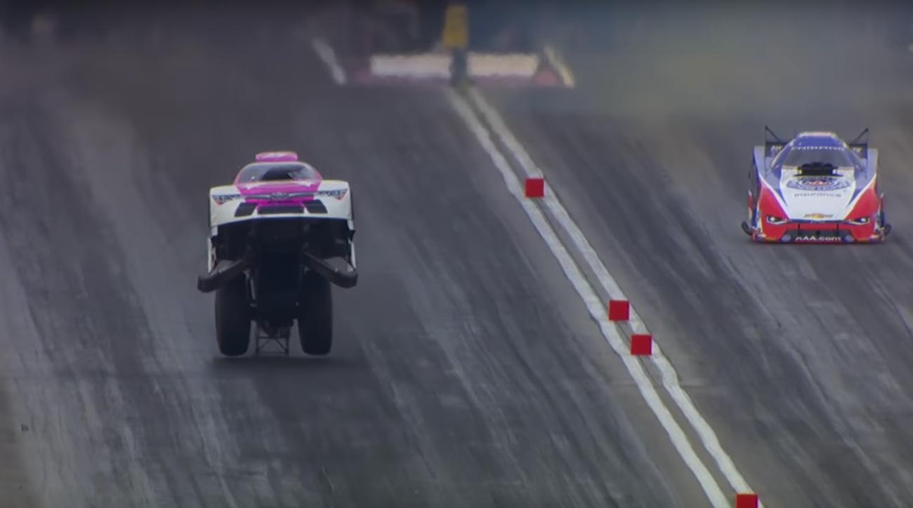 NHRA Funny Car lifts in air, wins race (Video) | SI.com