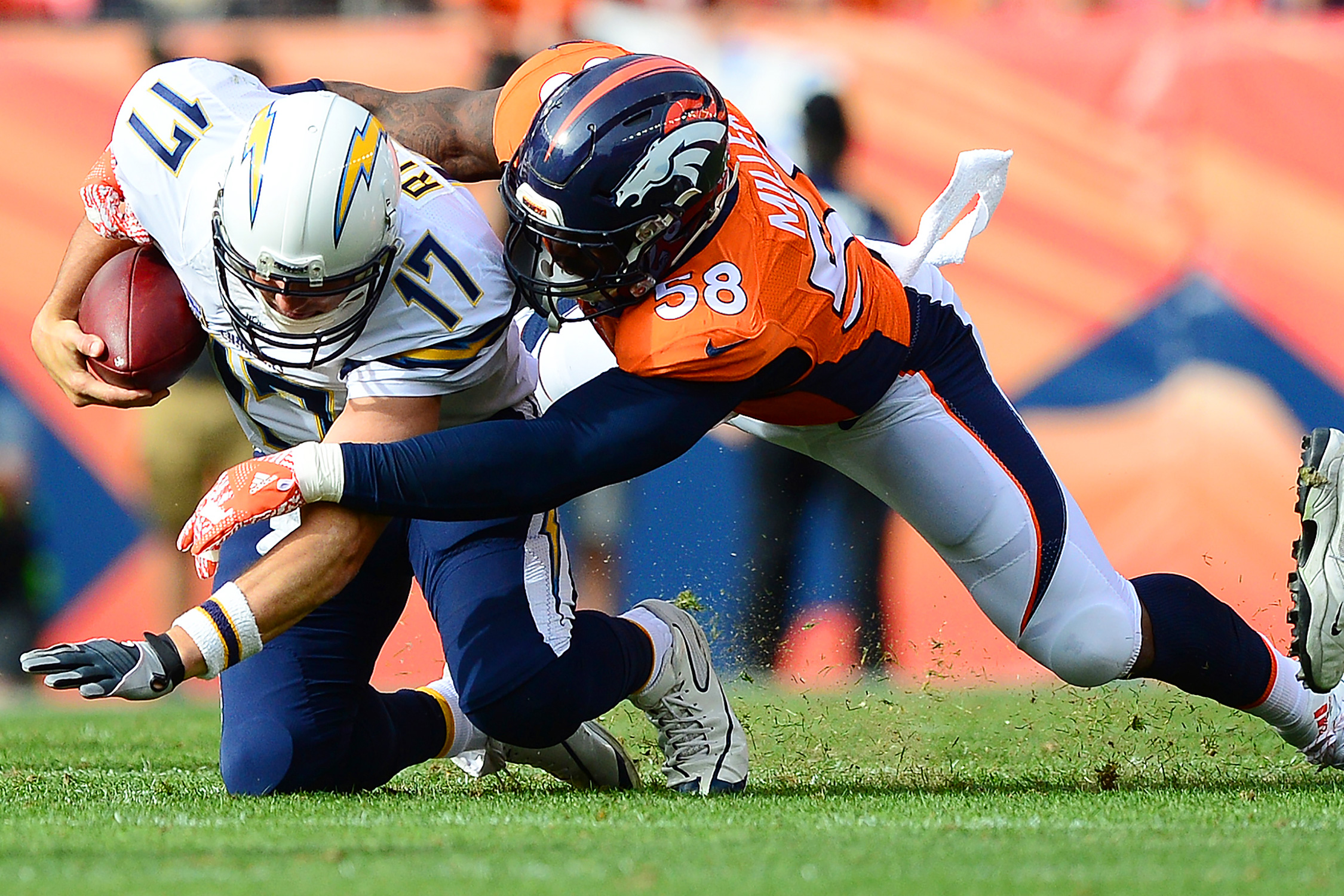 What is there to say about the reigning Super Bowl MVP that hasn't been said already? He's the linchpin of the defense that has yet again led Denver to a great start despite a dicey quarterback situation, and he's second in the league with 8.5 sacks.