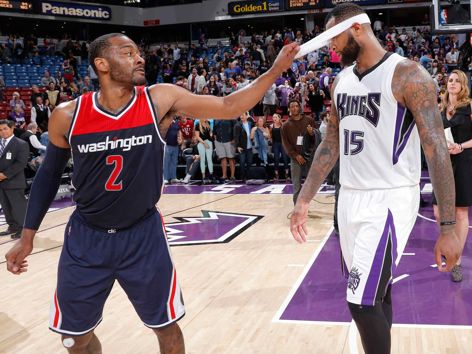 John Wall and DeMarcus Cousins