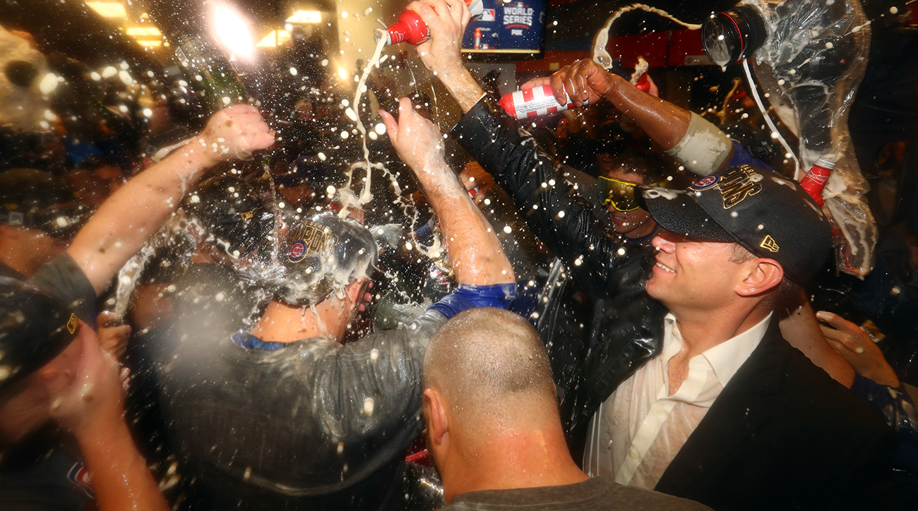 Chicago Cubs November   Locker Room Celebration Photo
