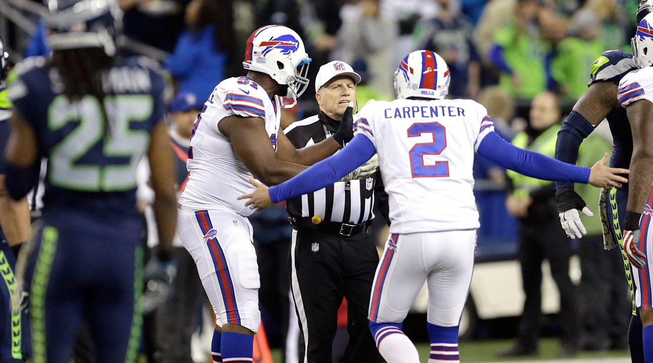 Dan Carpenter and the Bills were as baffled as anyone by Walt Anderson's officiating decisions at the end of halftime.