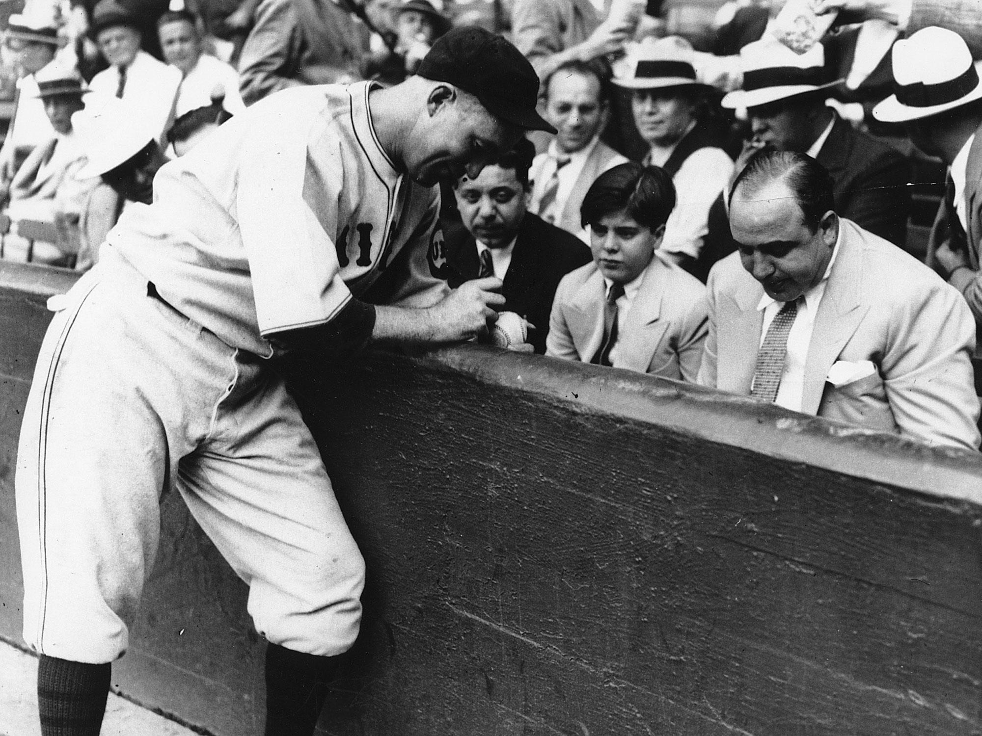 Gabby Hartnett, Chicago Cubs; Al Capone