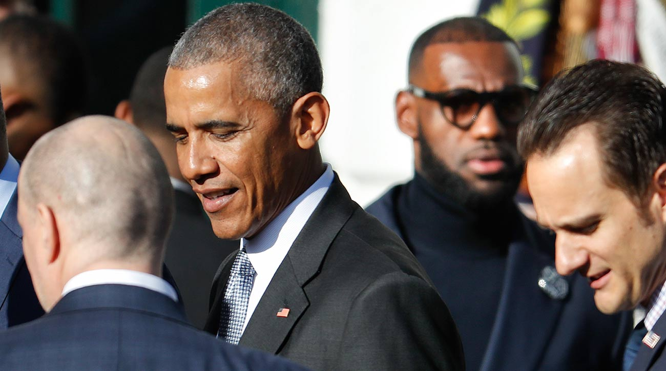 A Day With Barack Obama Donald Trump And Lebron James Si