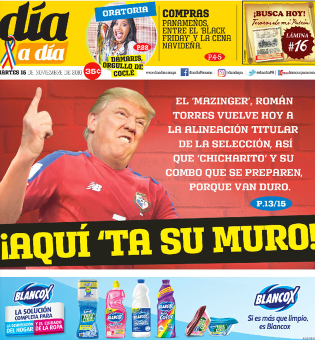 Panama newspaper Al Dia uses Donald Trump in reference to Mexico