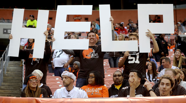 Cleveland Browns fans let their feelings be known last December.