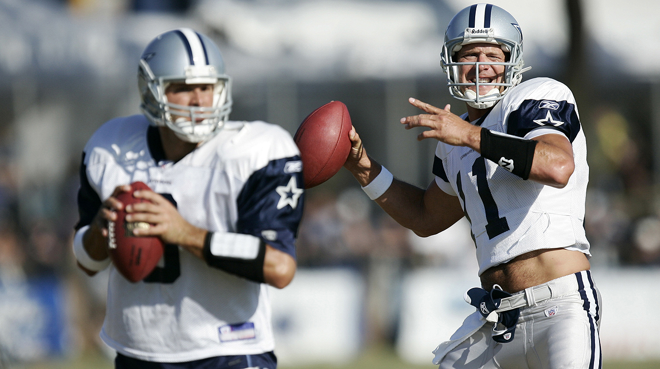A decade ago, Drew Bledsoe was trying to fight off Tony Romo to keep his job as Cowboys starting quarterback.