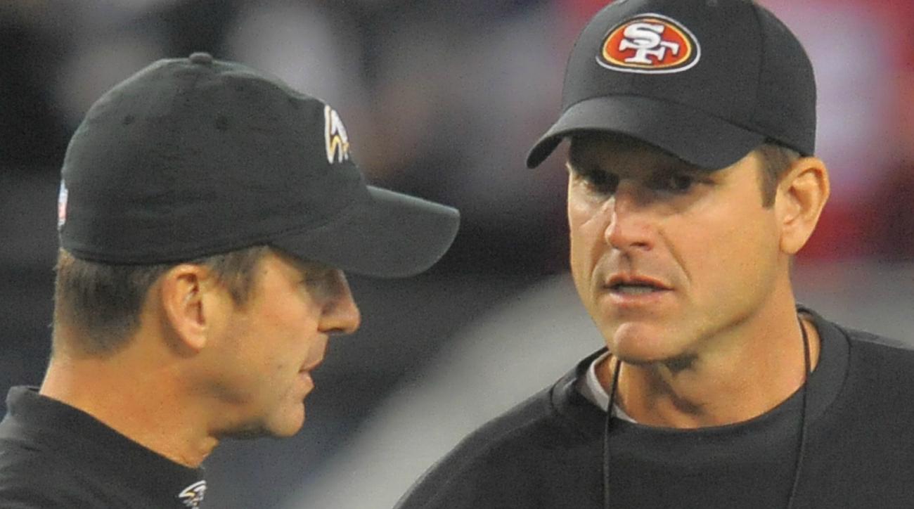jim john harbaugh 49ers ravens thanksgiving