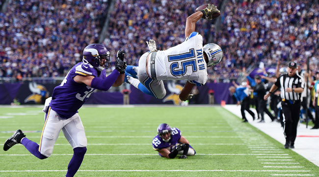 The Lions beat the Vikings, 22-16, in overtime earlier this month.