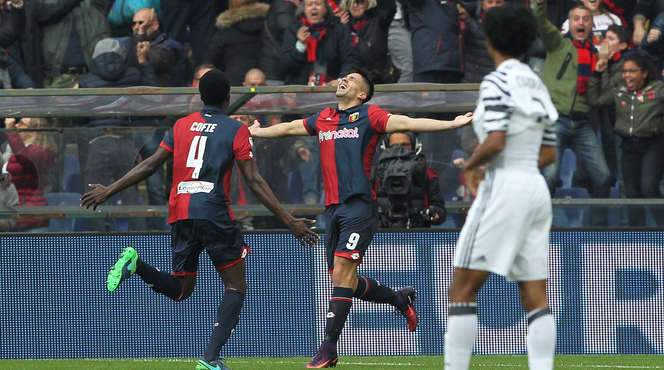 Genoa beats Juventus in Serie A