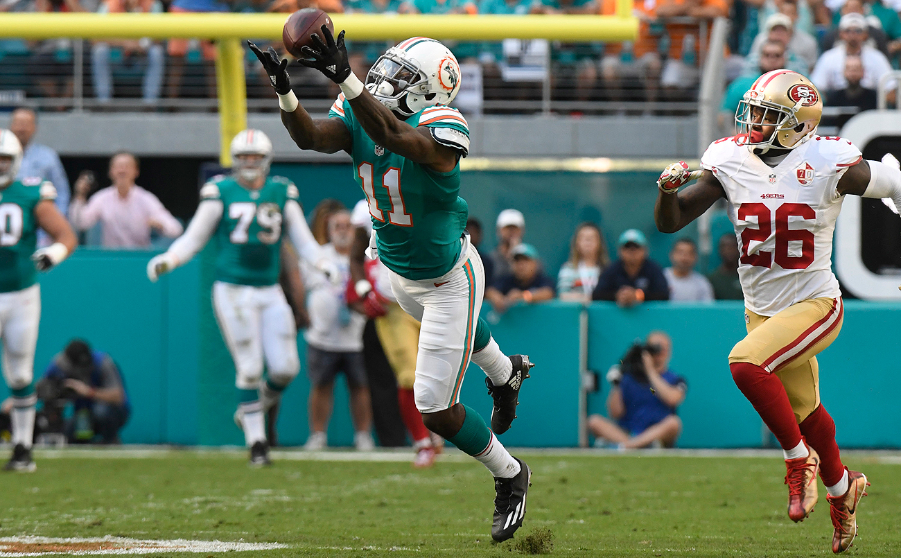 DeVante Parker has 16 catches for 246 yards and a touchdown over the past three games.