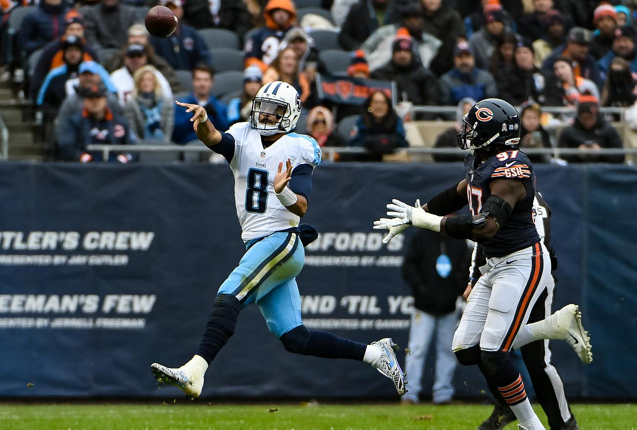 Titans quarterback Marcus Mariota has 21 touchdowns against just three interceptions in his past eight games.