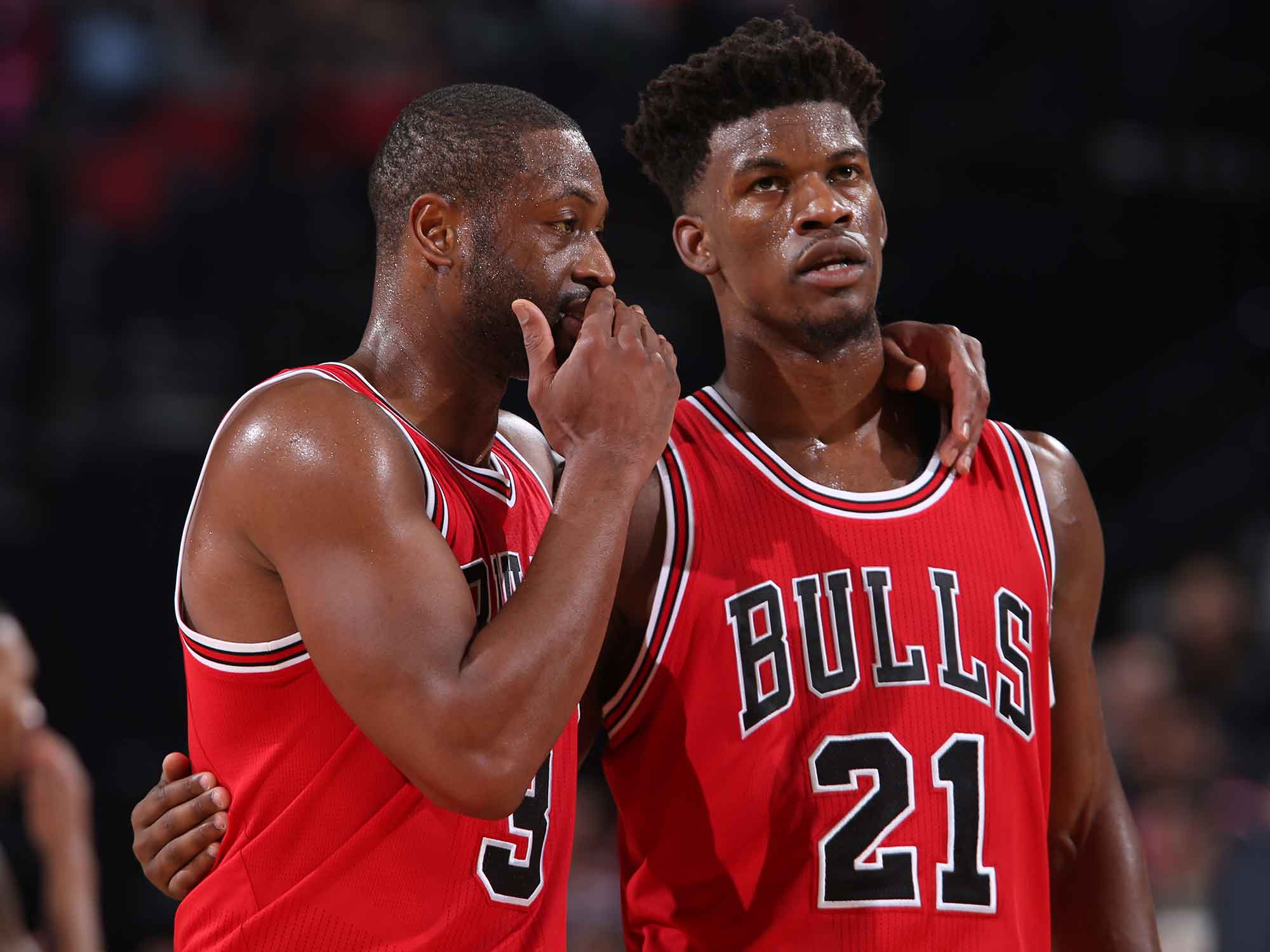 Dwyane Wade and Jimmy Butler