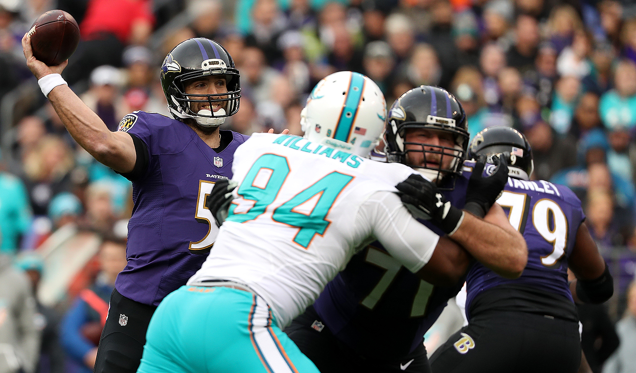 After routing the Dolphins, Joe Flacco and the Ravens are tied atop the AFC North standings with the Steelers. They play again Christmas day.