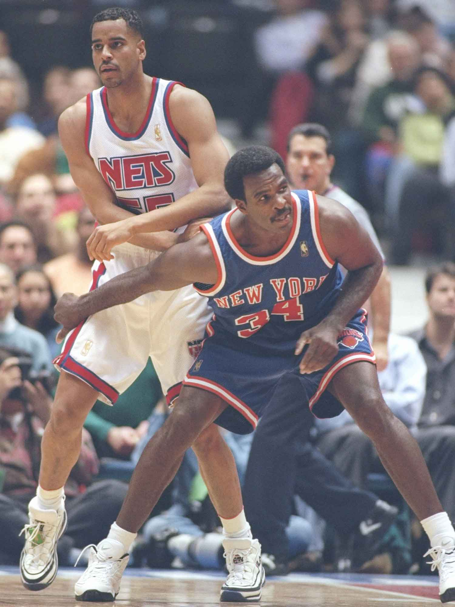 Jayson Williams and Charles Oakley