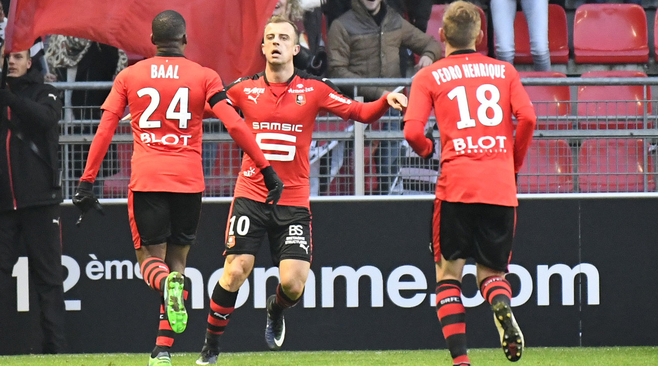Kamil Grosicki scored a great goal for Rennes